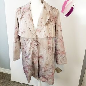 Size 2X | Badgley Mischka Paisley Trench Coat
